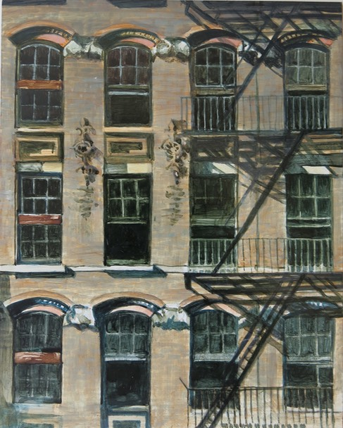 Dirty Windows in Tribeca/oil sketch